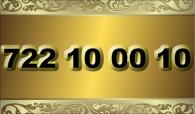 zlaté  číslo - 722 10 00 10   -  O2