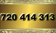 zlaté  číslo - 720 414 313 - O2