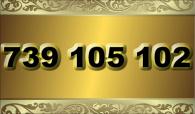 zlaté číslo - 739 105 102  T-mobile