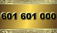zlaté  číslo -  601 601 000