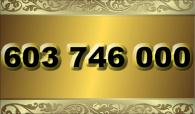 zlaté  číslo - 603 746 000 T-mobile