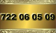 zlaté  číslo - 722 06 05 09   -  O2