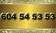 zlaté  číslo - 604 54 53 53  T-mobile
