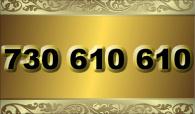 zlaté  číslo - 730 610 610