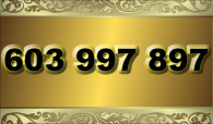 zlaté  číslo - 603 997 897 T-mobile