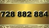 zlaté  číslo - 728 882 884  -  O2