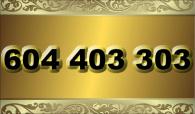 zlaté  číslo - 604 403 303  T-mobile