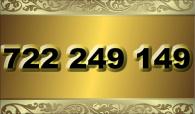zlaté  číslo - 722 249 149 -  O2