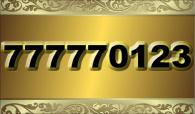 zlaté číslo - 77777 0 1 2 3