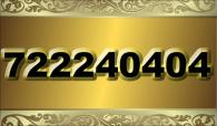 zlaté  číslo - 722 24 04 04 -  O2