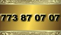 zlaté  číslo - 773 87 07 07 - Vodafone