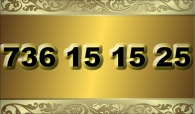 zlaté  číslo - 736 15 15 25 T-mobile
