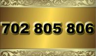 zlaté  číslo - 702 805 806