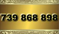 zlaté číslo - 739 868 898  T-mobile