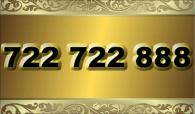 zlaté  číslo - 722 722 888  -  O2