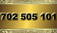 zlaté  číslo - 702 505 101