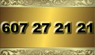 zlaté  číslo - 607 27 21 21